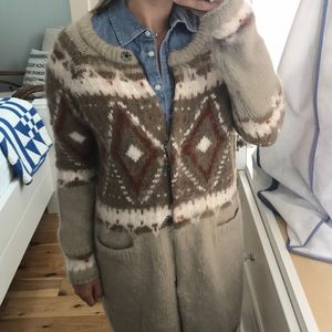 Free people mohair cardigan